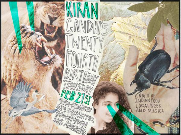Kiran Gandhi Birthday 3