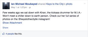 Keys to the City Interview, March 2015