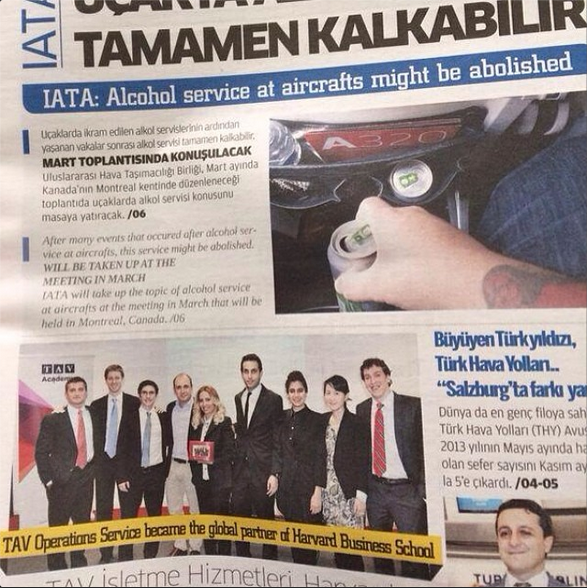 Harvard Business School partnership with TAV in Istanbul, Turkey, Jan 2014