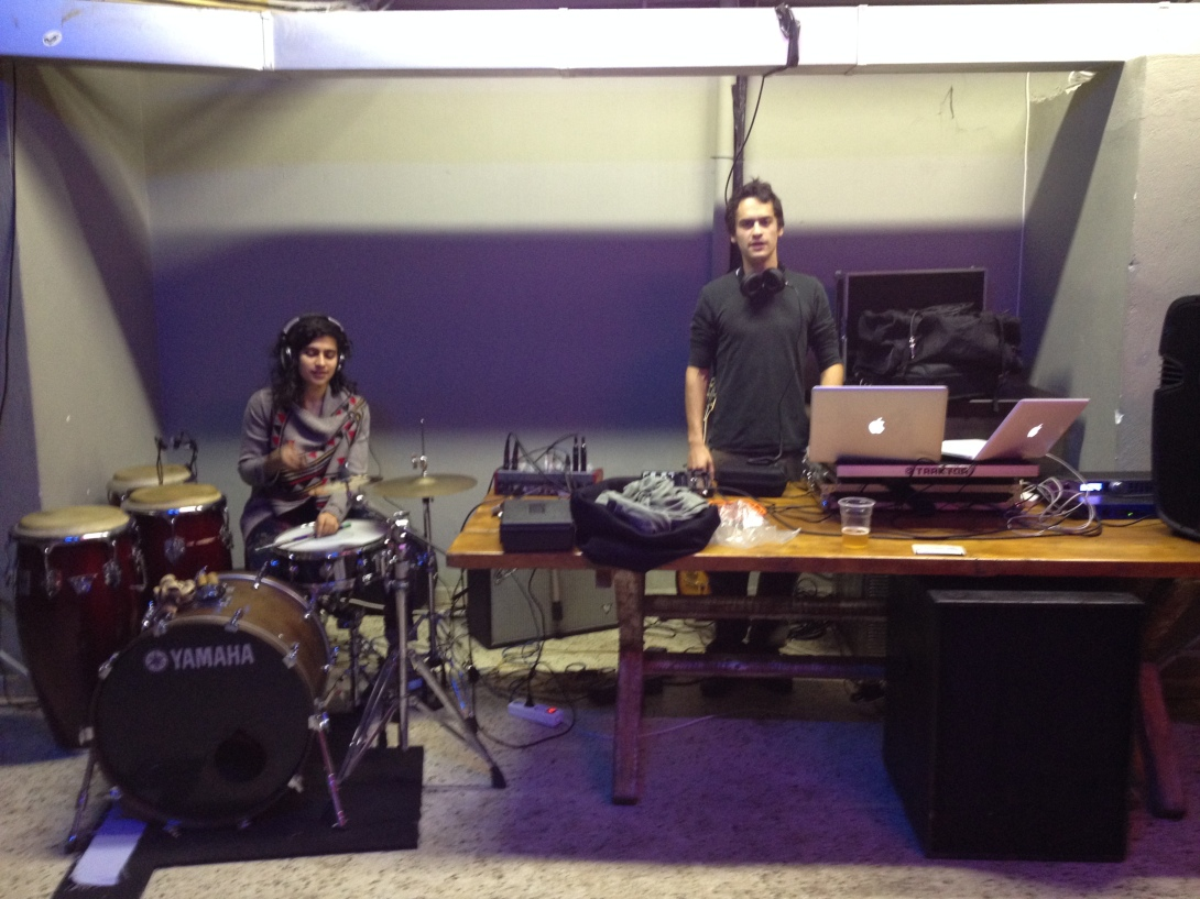 Soundchecking at Senza Bar, Athens Greece