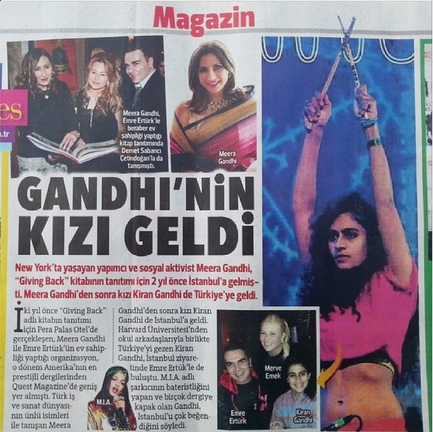Hurriyet Newspaper Magazine Section Jan 14th, 2014
