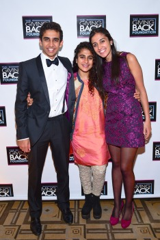 Kabir Gandhi, Kiran Gandhi, Kanika Gandhi== Meera Gandhi's Giving Back Foundation NNYAL Gala Honoring Phylicia Rashad and Suhel Seth== The Carlyle Hotel, NYC== October 8, 2015== ©Patrick McMullan== Photo - Sean Zanni/PatrickMcMullan.com== ==